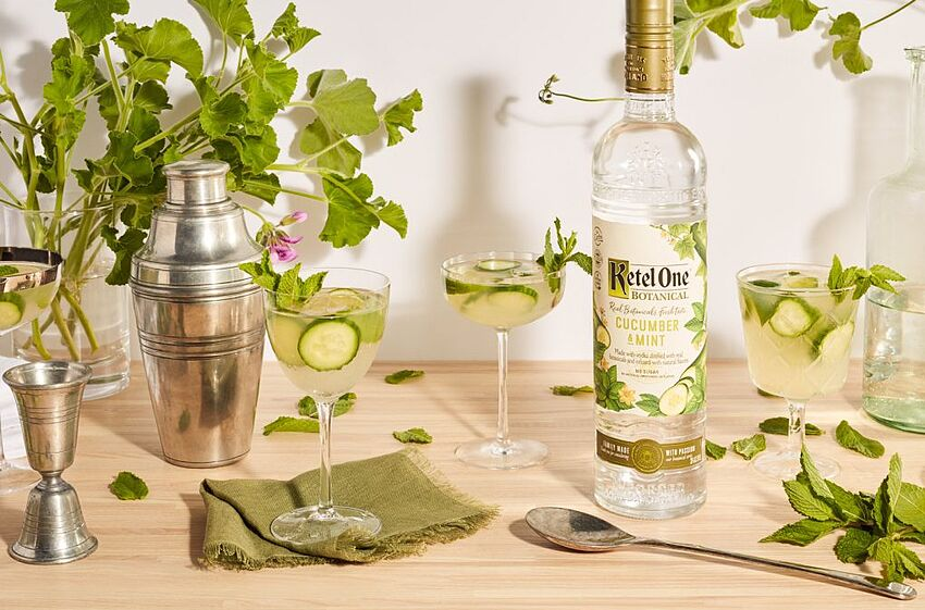 Cucumber-Mint Cooler, photo provided by Ketel One