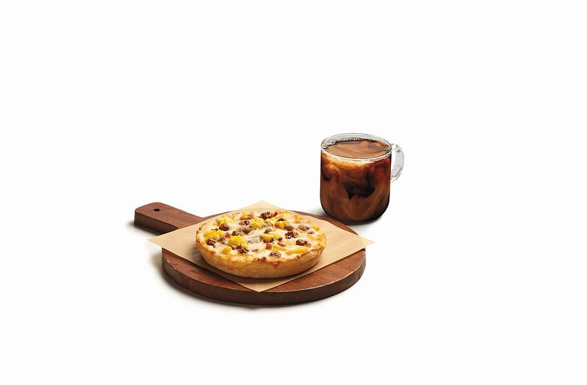 7-Eleven personal breakfast pizza, photo provided by 7-Eleven