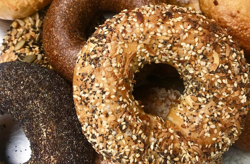 National Bagel Day Trends, photo provided by Grubhub
