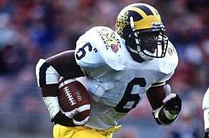 Michigan Football  Twelve Wondrous Wolverines —  10 — Tyrone Wheatley —  Running Back f98c96a1d