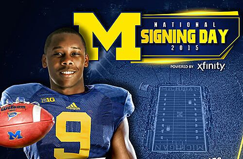 Tyrone Wheatley Jr. signs letter of intent with Michigan. 02ed901a3