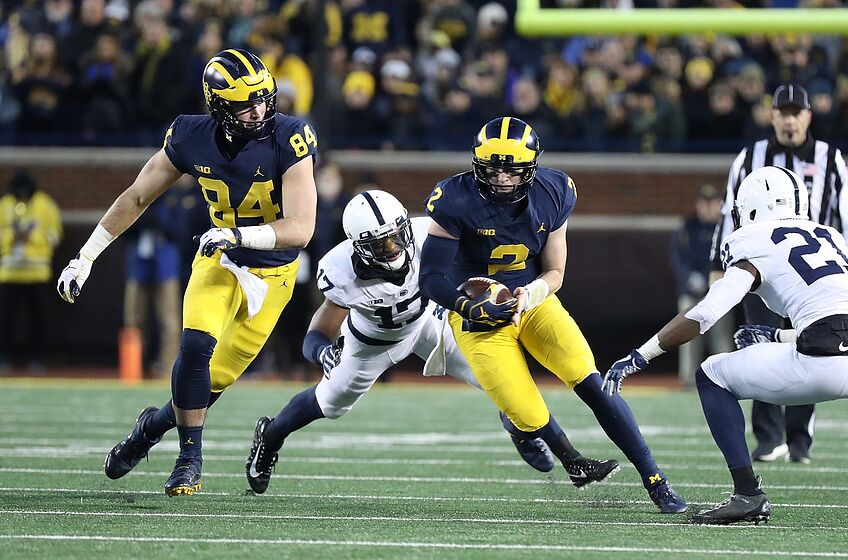 Ann Arbor Mi November  Shea Patterson  Of The Michigan Wolverines