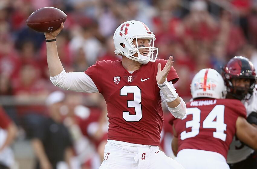 f93a8d9a PALO ALTO, CA - AUGUST 31: K.J. Costello #3 of the Stanford Cardinal