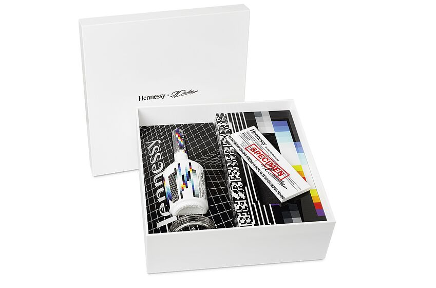 Photo: Hennessy V.S Collector's Edition by Felipe Pantone.. Image Courtesy Hennessy