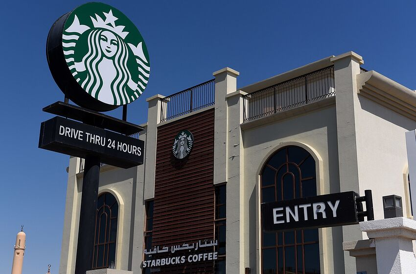 DUBAI, UNITED ARAB EMIRATES - APRIL 05: General view of Starbucks Coffee drive thru 24 hours store on April 5, 2017 in Dubai, United Arab Emirates. (Photo by Tom Dulat/Getty Images)