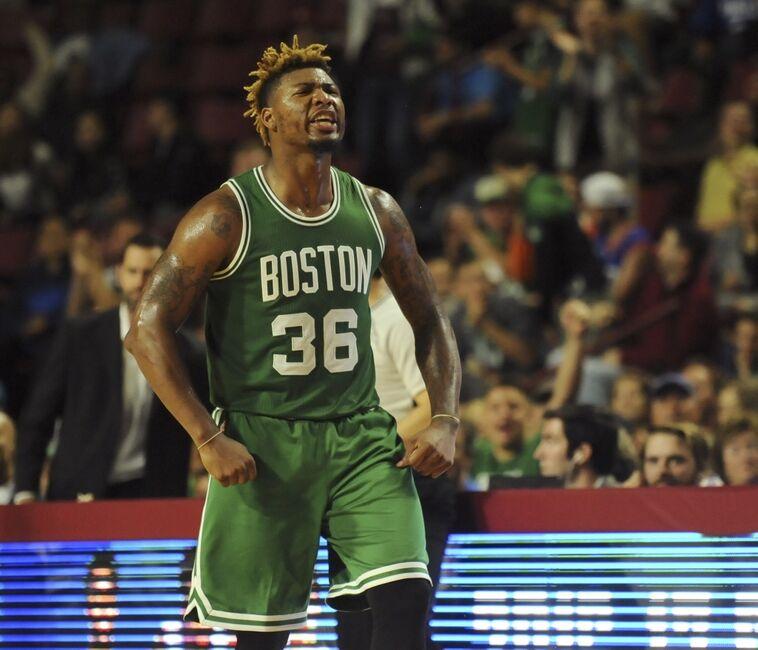 Oct 4 2016 Amherst Ma Usa Boston Celtics Guard Marcus Smart