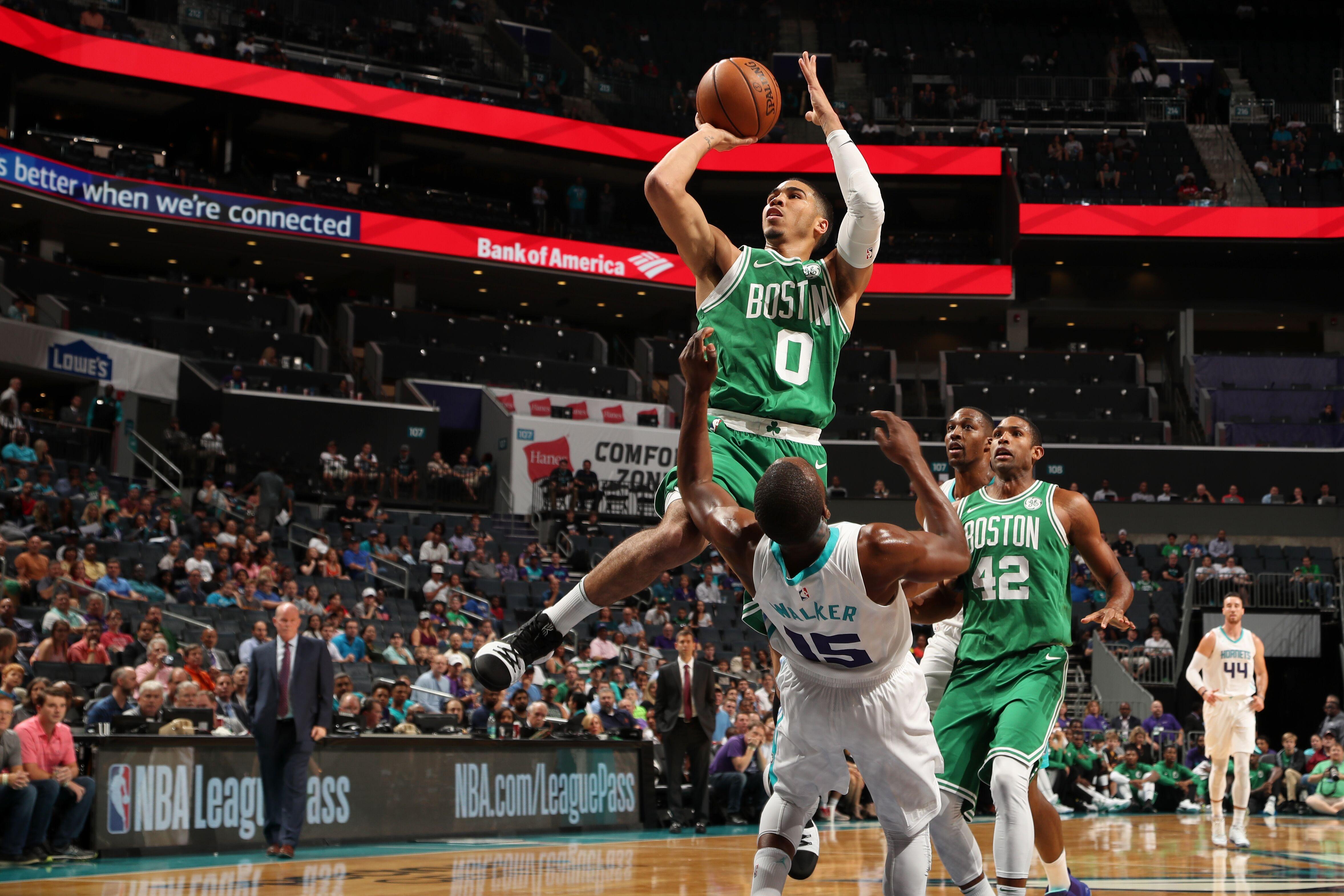 Jayson Tatum Looks Ready to start for the Boston Celtics