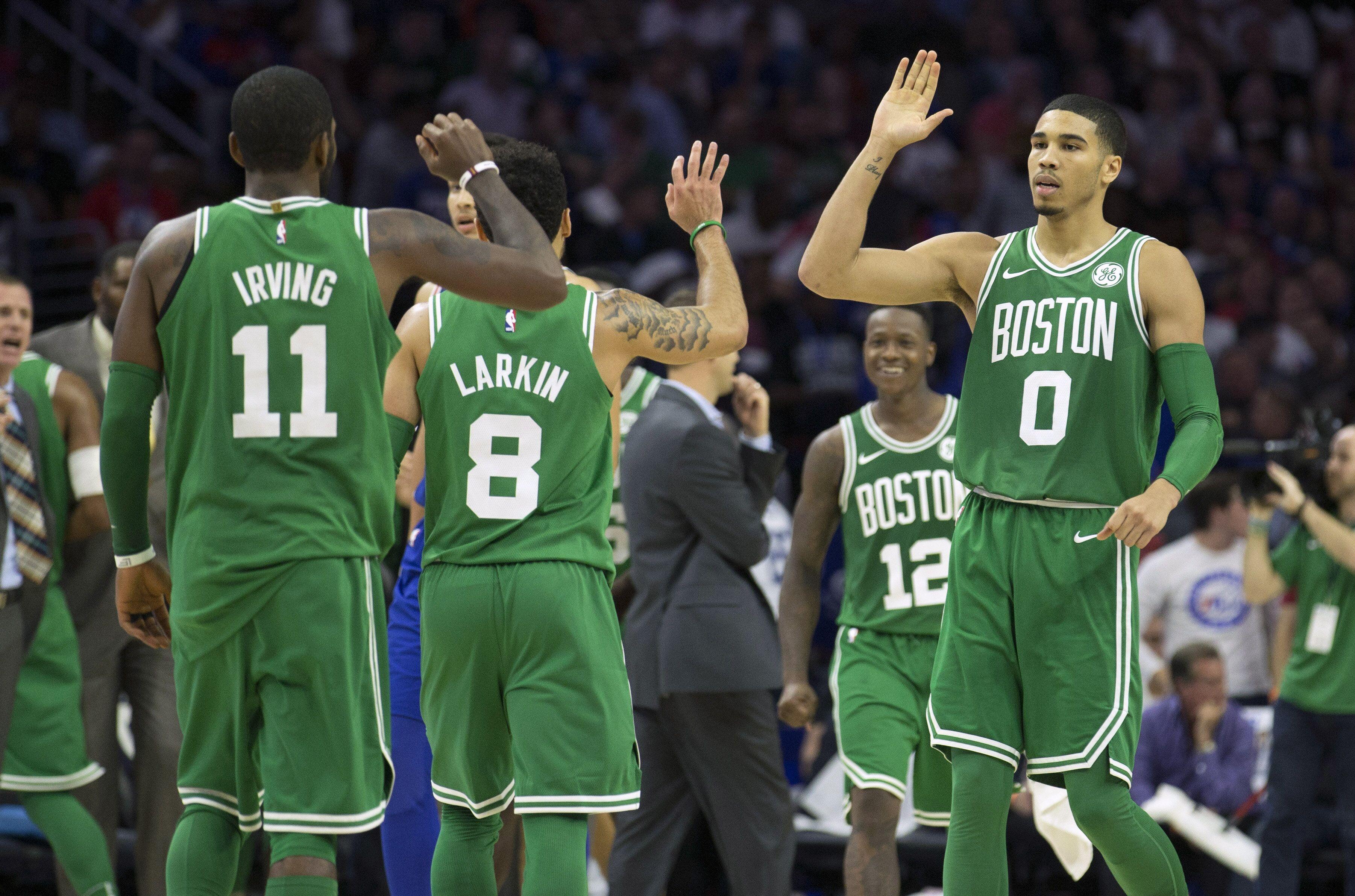 Philadelphia Pa October  Jayson Tatum  Of The Boston Celtics High