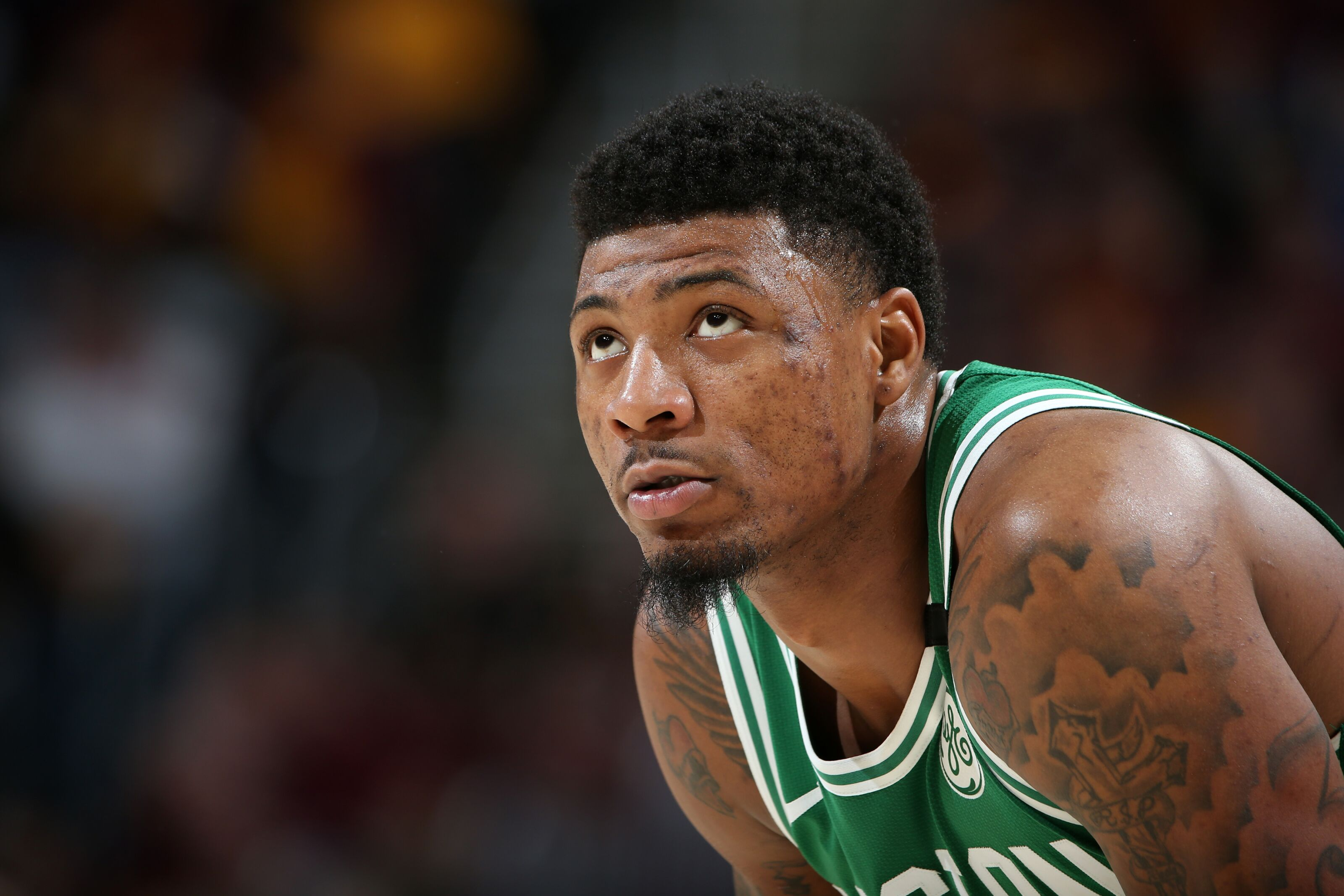 Cleveland Oh May 21 Marcus Smart 36 Of The Boston Celtics Looks