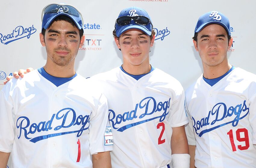 NEW YORK - AUGUST 19: Joe Jonas, Nick Jonas and Kevin Jonas of The Jonas Brothers attend the Road Dogs X the TXT softball tour at KeySpan Park on August 19, 2010 in New York City (Photo by Jason Kempin/Getty Images for Road Dogs TXT)