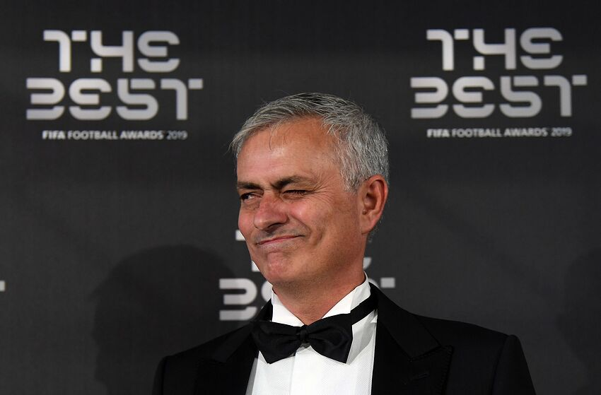 MILAN, ITALY - SEPTEMBER 23: José Mourinho attends The Best FIFA Football Awards 2019 at the Teatro Alla Scala on September 23, 2019 in Milan, Italy. (Photo by Claudio Villa/Getty Images)