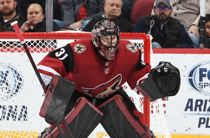 Super Hockey Ad Aria.Arizona Coyotes Goalie Adin Hill Will Get More Minutes In Tucson