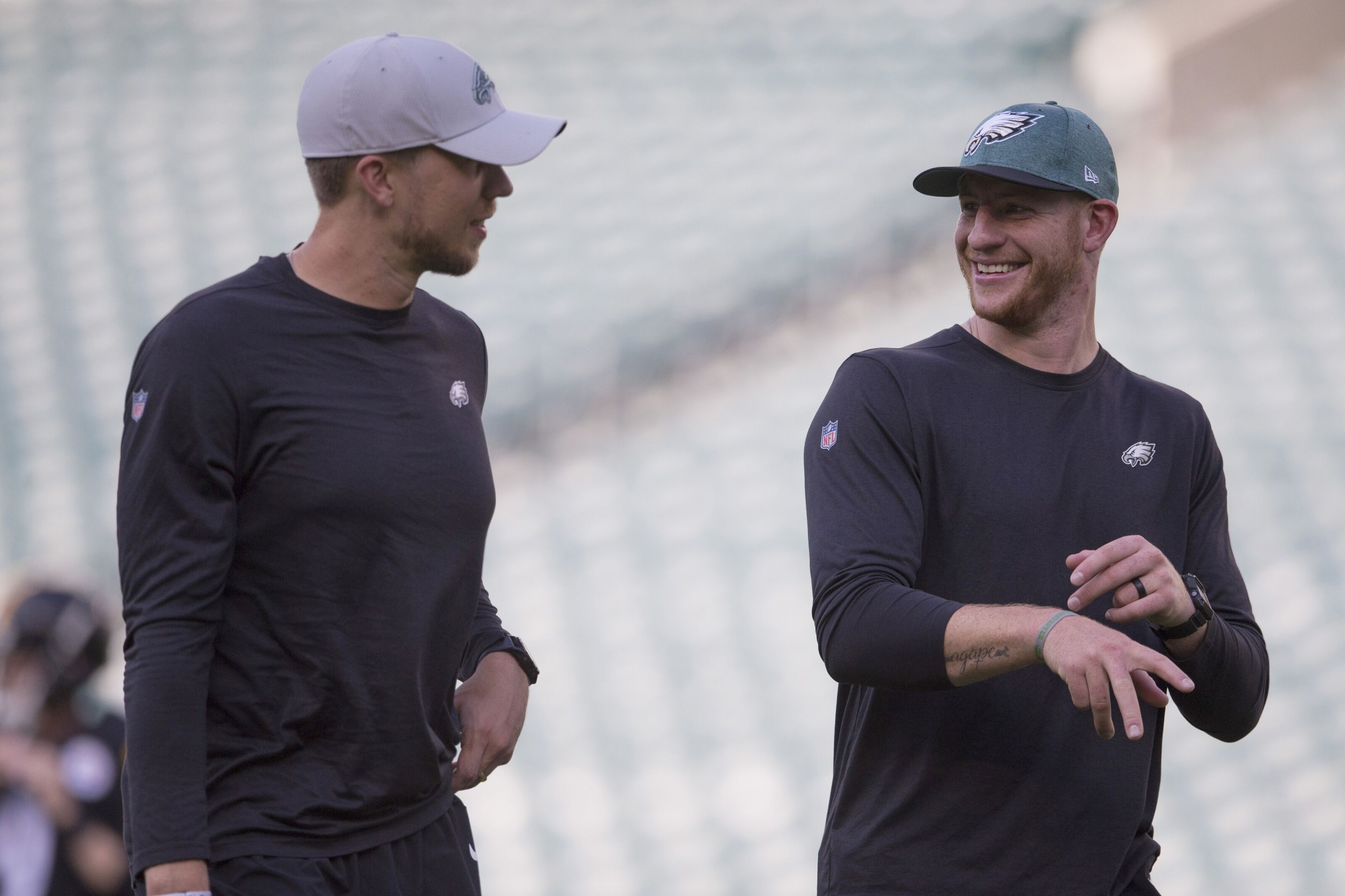 Eagles should keep Carson Wentz's progress on the low