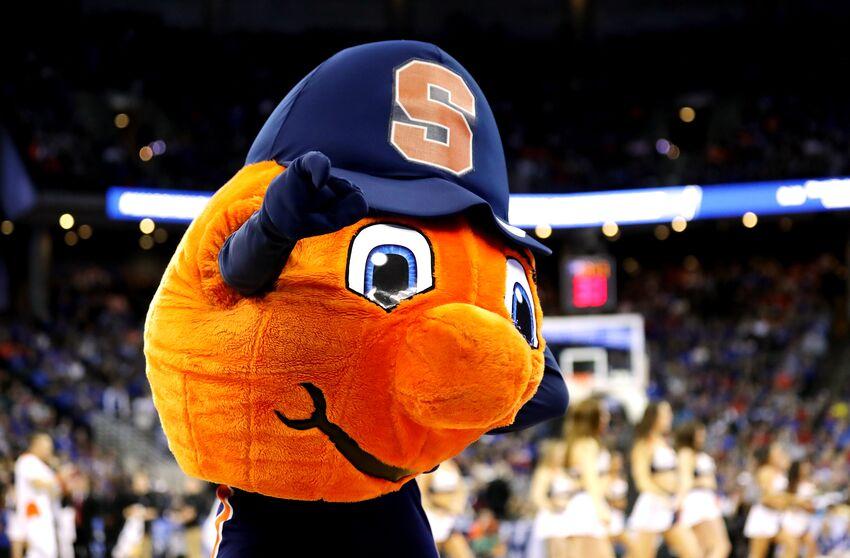 OMAHA, NE - MARCH 23: The Syracuse Orange mascot