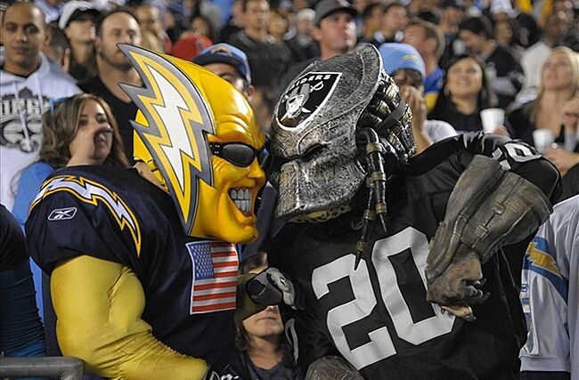 Image result for chargers raiders