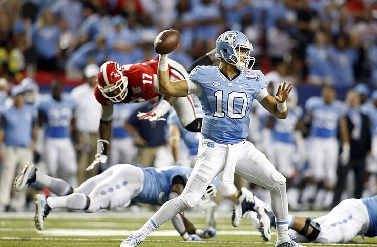 los angeles b14c4 d762f UNC Football: Tar Heels reveal jersey combo for The Citadel game