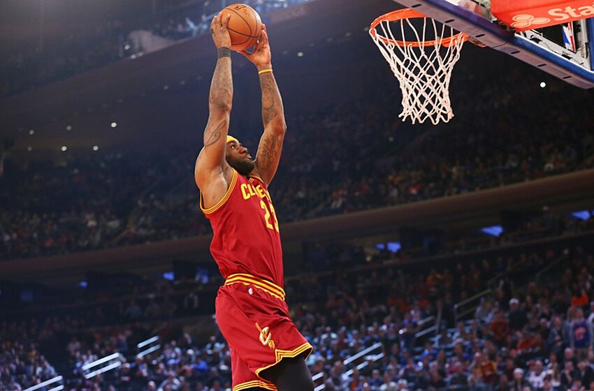 cleveland cavaliers lebron james is the dunk king