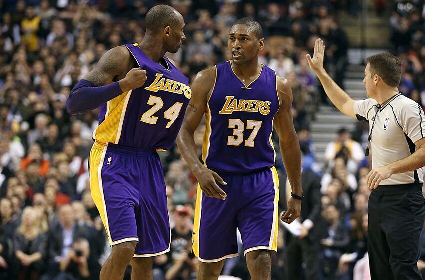 a4dd50a4c20 Dec 7, 2015; Toronto, Ontario, CAN; Los Angeles Lakers forward Metta