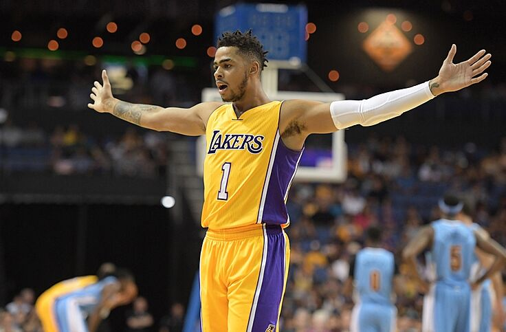 Lakers Check Out Dangelo Russells New Muhammad Ali Tattoo