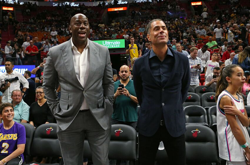1352a55835c Los Angeles Lakers, Magic Johnson, Rob Pelinka (David Santiago/Miami Herald/