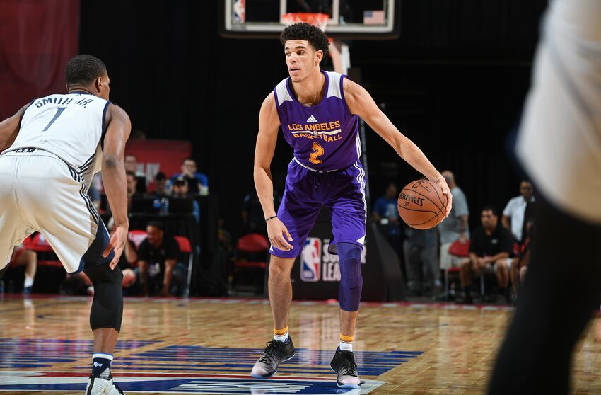 f2083dc3ebb Los Angeles Lakers  Lonzo Ball receives a high NBA 2K18 rating