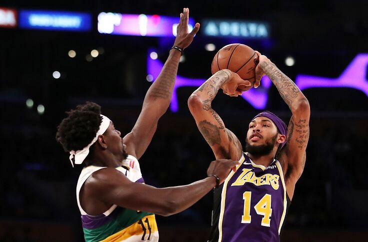 c7cb7389681 Los Angeles Lakers  Brandon Ingram shut down