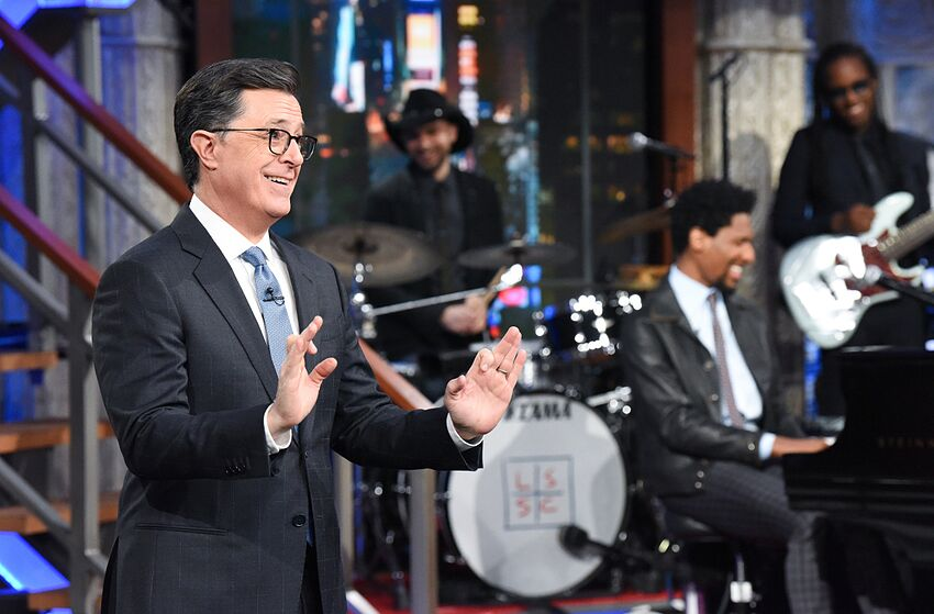 The Late Show with Stephen Colbert during Wednesday's March 13, 2019 show. Photo: Scott Kowalchyk/CBS ©2019 CBS Broadcasting Inc. All Rights Reserved.