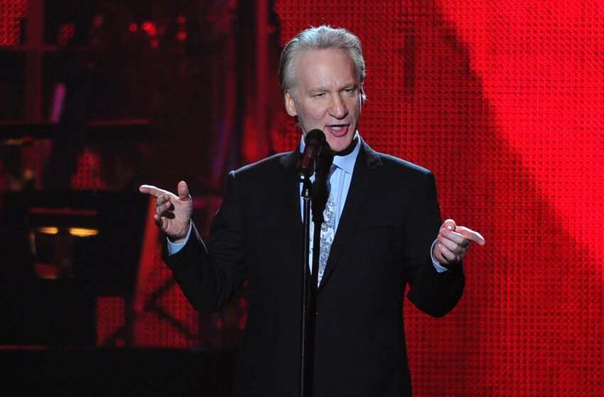 LOS ANGELES, CA - FEBRUARY 11: Comedian Bill Maher speaks onstage at the 2011 MusiCares Person of the Year Tribute to Barbra Streisand held at the Los Angeles Convention Center on February 11, 2011 in Los Angeles, California. (Photo by Alberto E. Rodriguez/Getty Images)