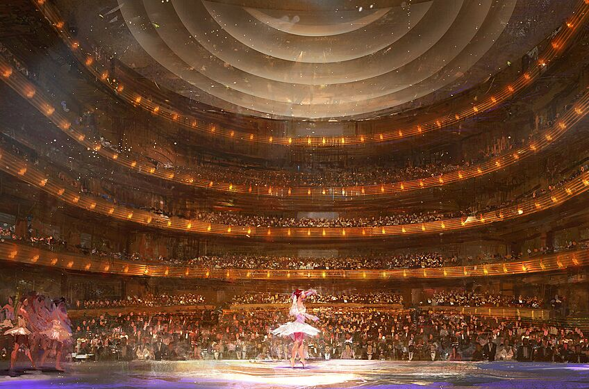 Steinmetz Hall Stage View Rendering, photo provided by Dr. Phillips Center