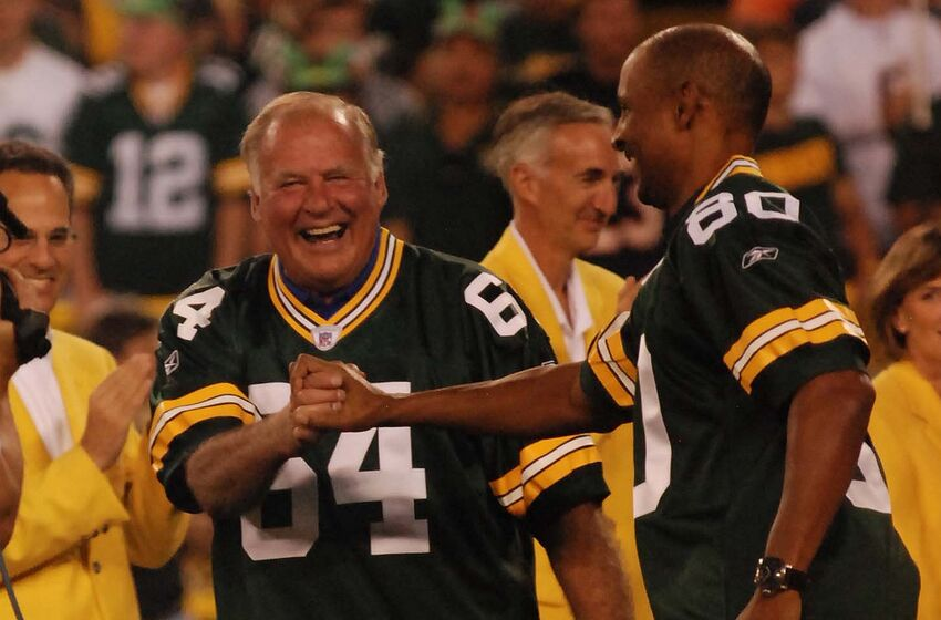 Jerry Kramer with former Packers wide receiver James Lofton. Raymond T.  Rivard photograph 45f86f69f