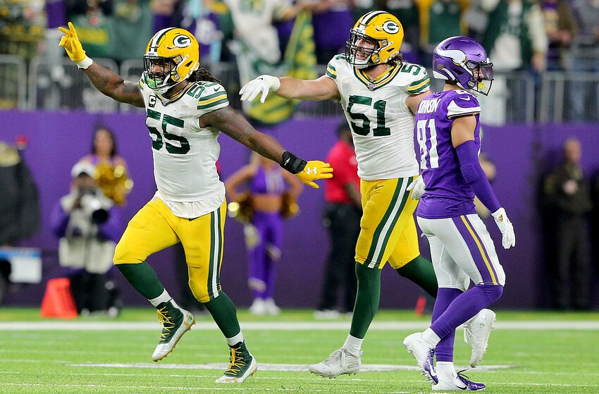 Green Bay Packers, Za'Darius Smith, Kyler Fackrell (Photo by Adam Bettcher/Getty Images)