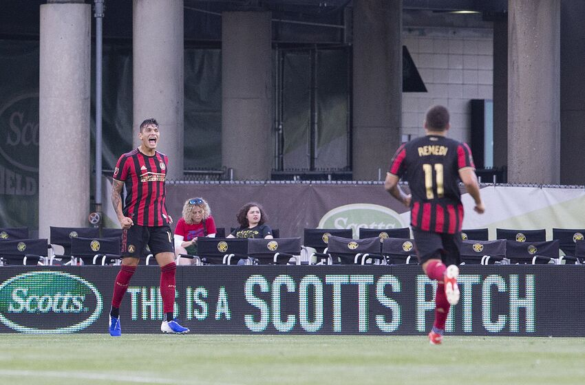 COLUMBUS, OH - JUNE 18: Atlanta United forward Brandon Vazquez #19 reacts to scoring a goal during the 2019 Lamar Hunt U.S. Open Cup Round of 16 match between the Columbus Crew SC and the Atlanta United at MAPFRE Stadium in Columbus, Ohio on June 18, 2019. (Photo by Jason Mowry/Icon Sportswire via Getty Images)