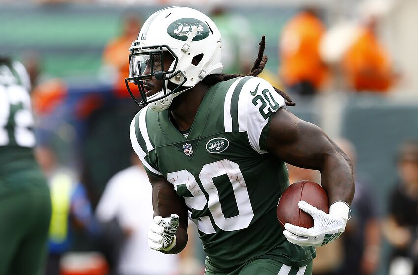 2e5a9d50b8d EAST RUTHERFORD, NEW JERSEY - OCTOBER 07: Isaiah Crowell #20 of the New