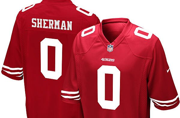 990c7140f99 San Francisco 49ers fans need to get their new Richard Sherman jerseys
