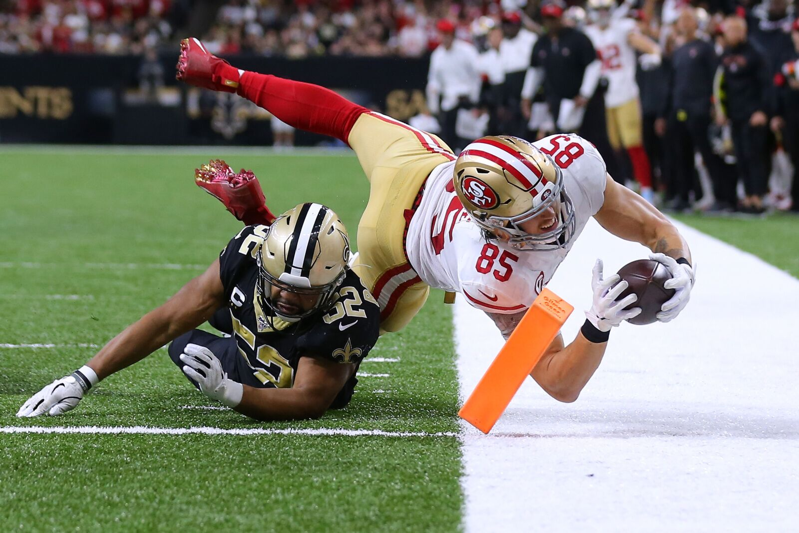 49ers survive wild thriller in New Orleans, beat Saints in Week 14