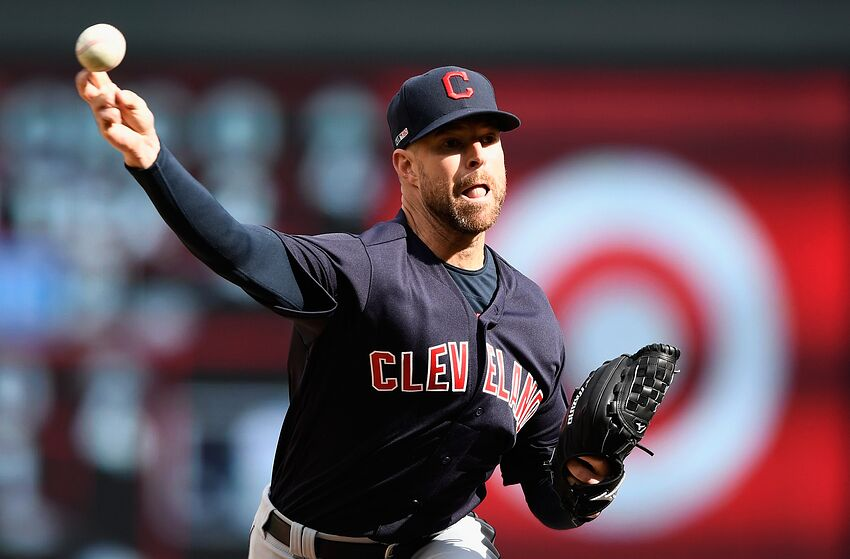 MINNEAPOLIS, MN - MARCH 28: Corey Kluber #28 of the Cleveland Indians delivers a pitch against the Minnesota Twins during the fourth inning of the Opening Day game on March 28, 2019 at Target Field in Minneapolis, Minnesota. The Twins defeated the Indians 2-0. (Photo by Hannah Foslien/Getty Images)