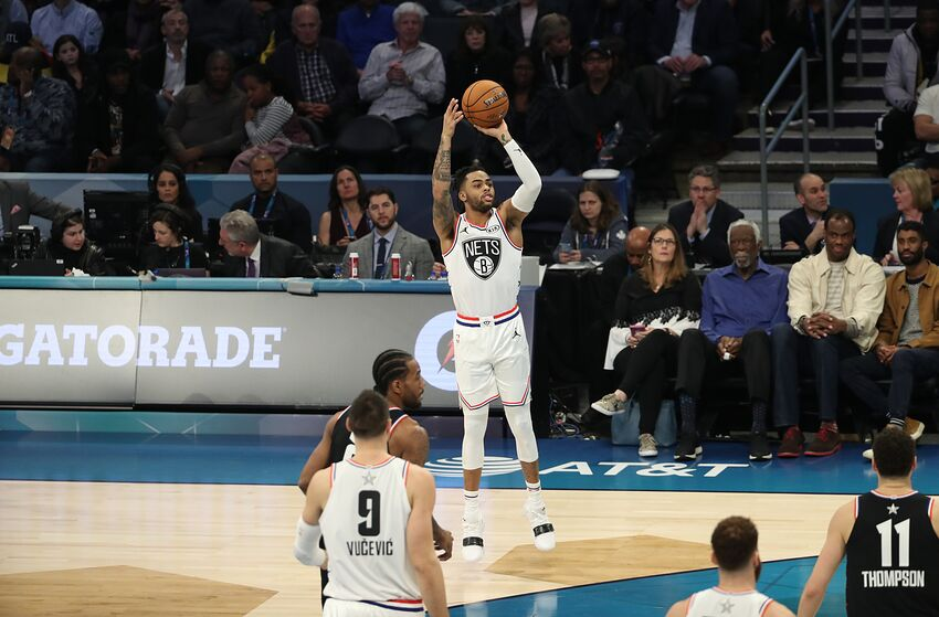 9a2a64a59 Brooklyn Nets D Angelo Russell 2019 NBA All-Star Game. Mandatory Copyright  Notice