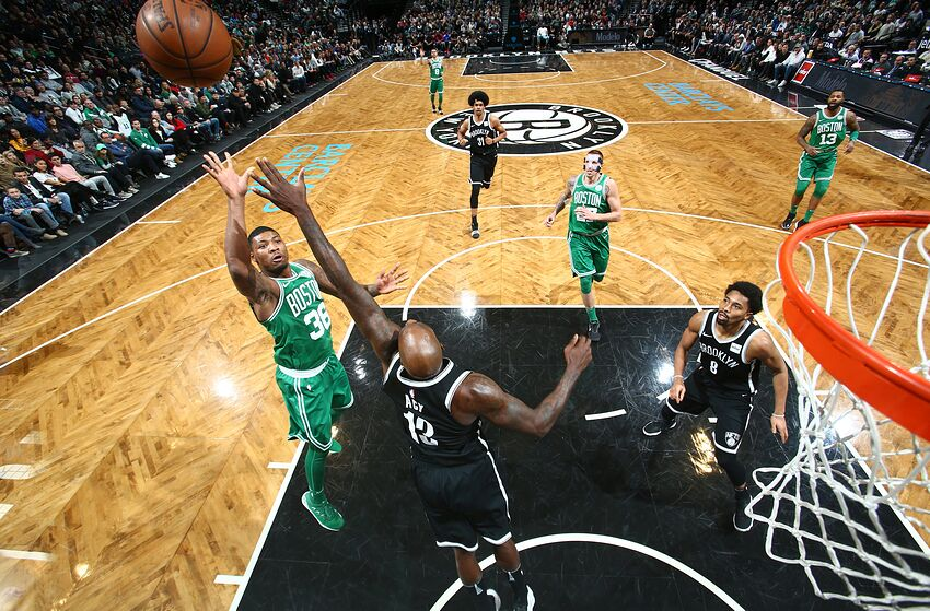 brooklyn nets rumors sean marks marcus smart talk in las vegas