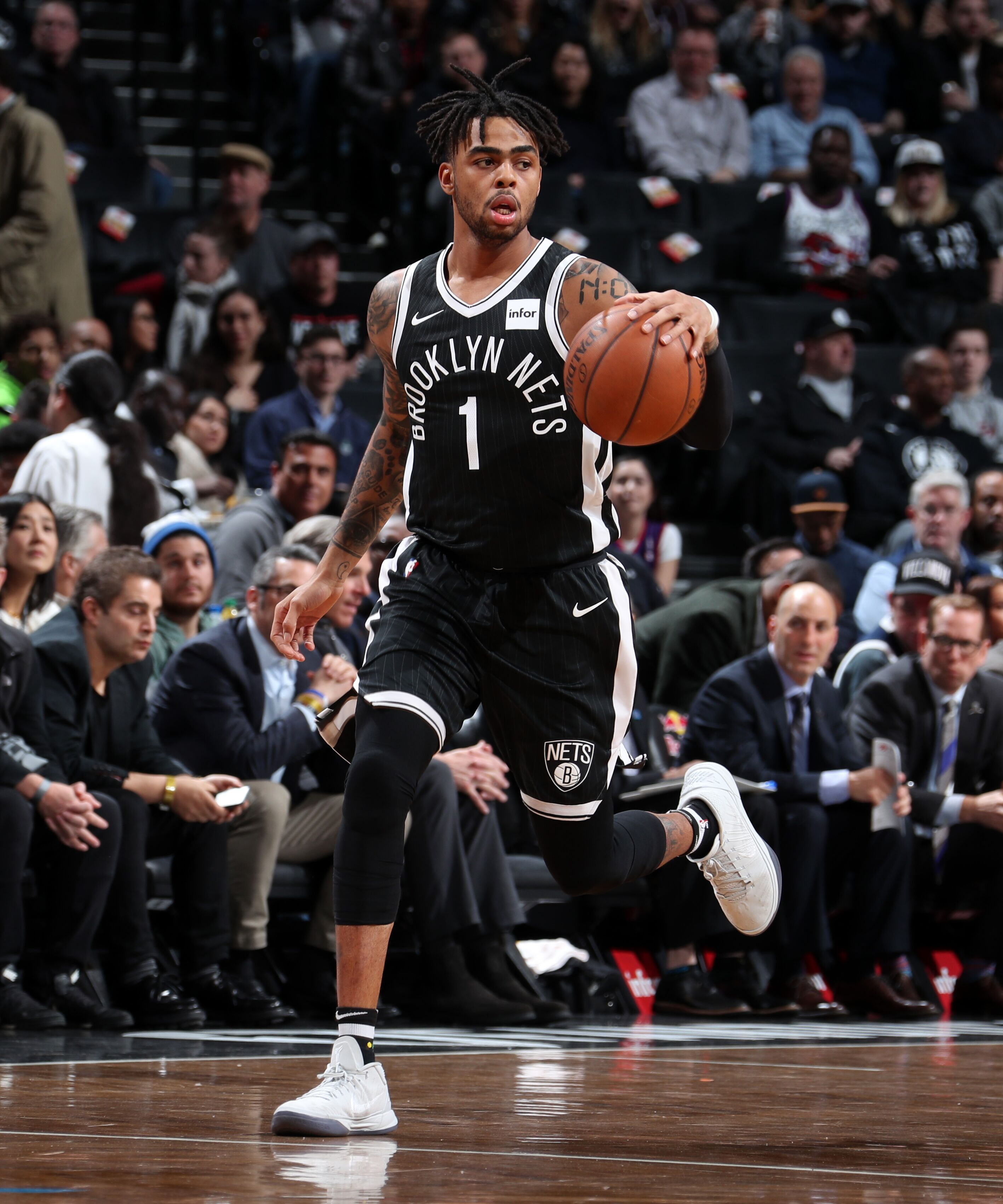 BROOKLYN, NY - MARCH 13: D'Angelo Russell