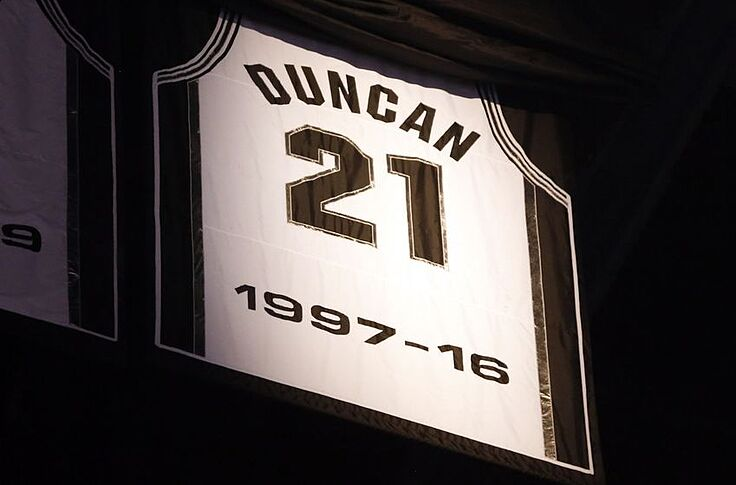 pretty nice d7657 ca2f2 Wake Forest Demon Deacons: Spurs Retire Duncan's Jersey