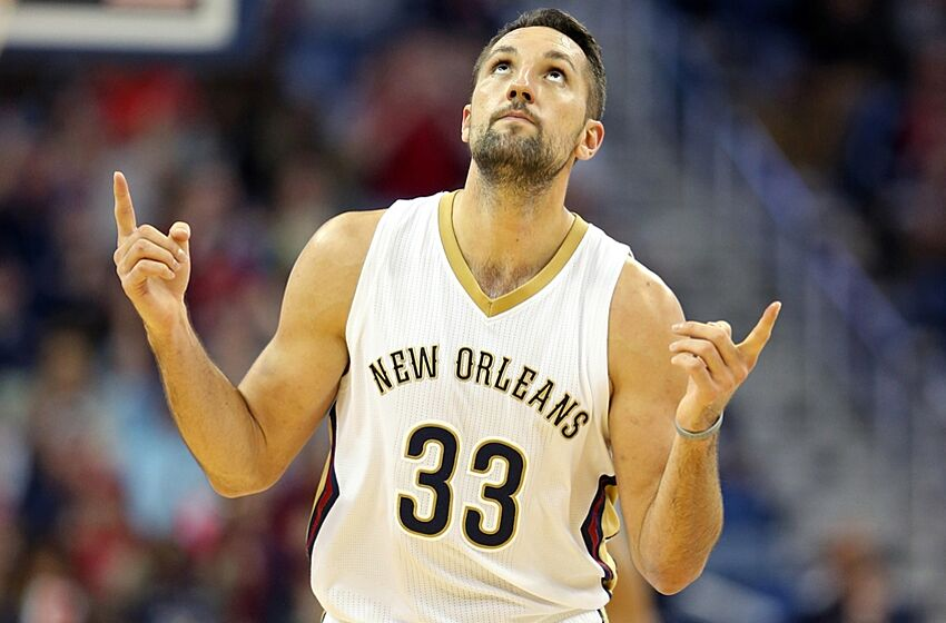 Nov 20, 2015; New Orleans, LA, USA; New Orleans Pelicans forward Ryan Anderson (33) gestures in the second half of their game against the San Antonio Spurs at the Smoothie King Center. Mandatory Credit: Chuck Cook-USA TODAY Sports