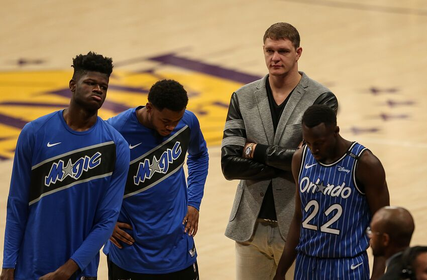 Timofey Mozgov was cut this summer, but his salary remains tied to the Orlando Magic's books for the next three summers. (Photo by Icon Sportswire)