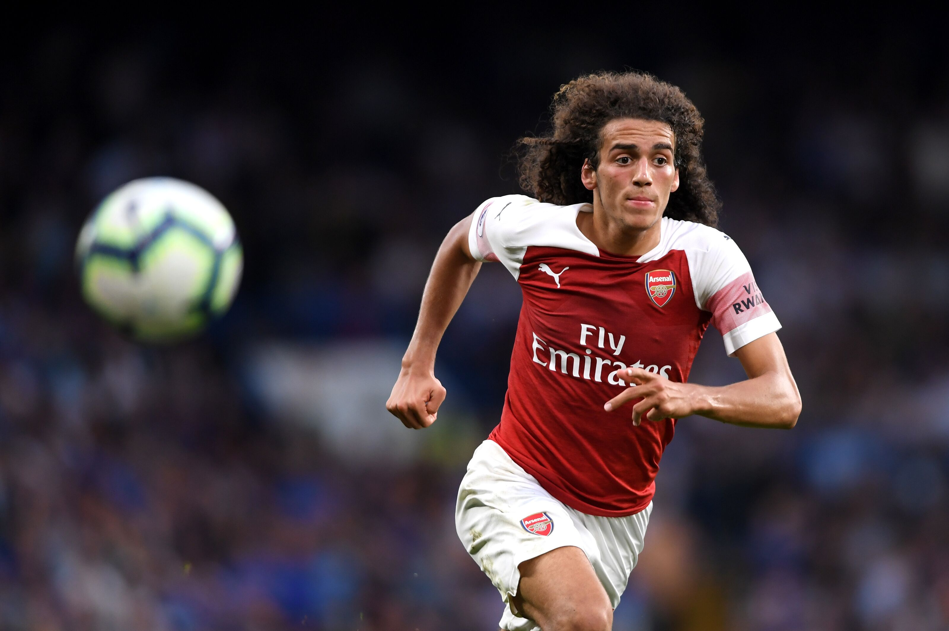 London England August  Matteo Guendouzi Of Arsenal Chases The Ball During The
