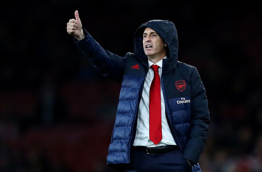 LONDON, ENGLAND - OCTOBER 03: Unai Emery, Manager of Arsenal reacts during the UEFA Europa League group F match between Arsenal FC and Standard Liege at Emirates Stadium on October 03, 2019 in London, United Kingdom. (Photo by Julian Finney/Getty Images)