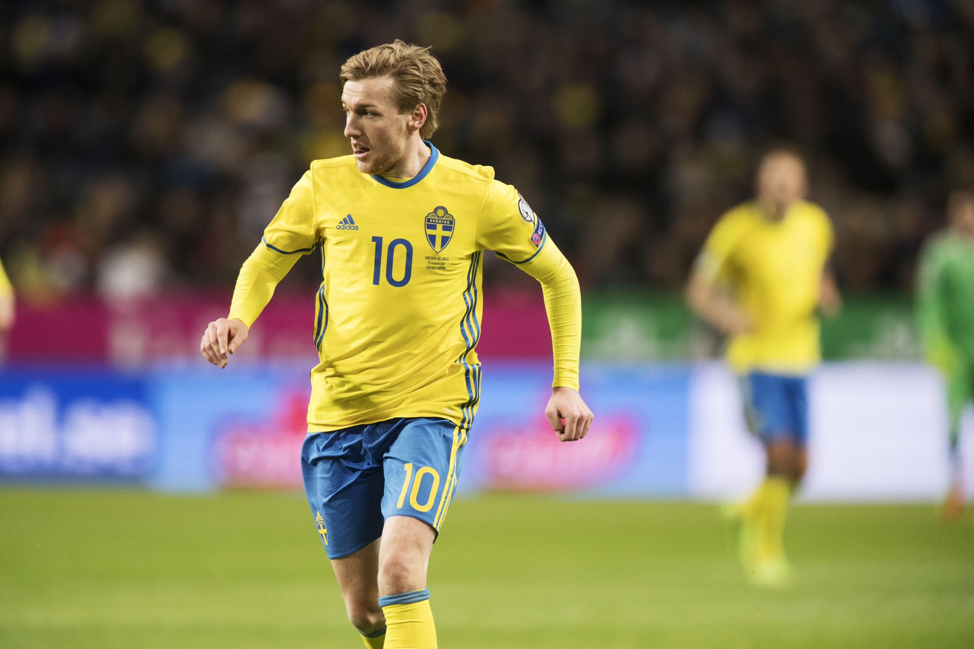 Solna Sweden March  Emil Forsberg Of Sweden During The Fifa  World