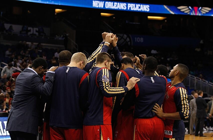 Oct 25 2017 Orlando Fl Usa New Orleans Pelicans Huddle Up