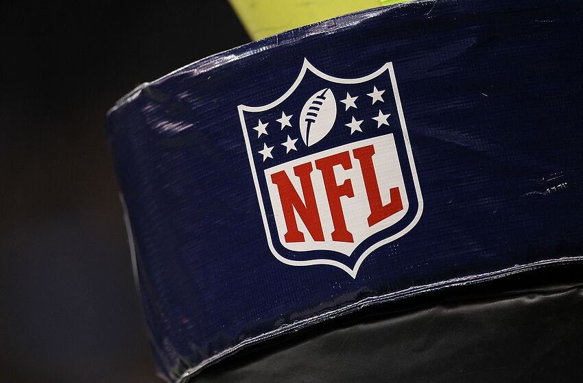NEW ORLEANS - SEPTEMBER 09: The NFL shield logo on the goal post pad at Louisiana Superdome on September 9, 2010 in New Orleans, Louisiana. (Photo by Ronald Martinez/Getty Images)