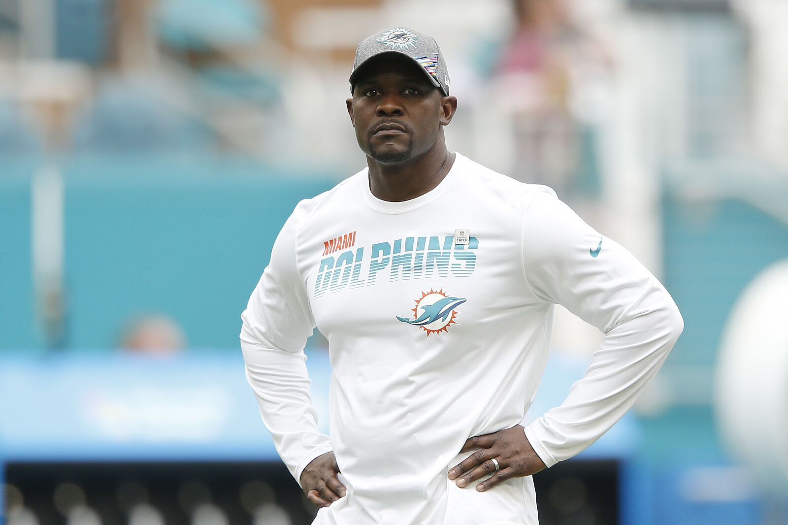 "Miami Dolphins' Brian Flores watches ""A lot"" of film on players"
