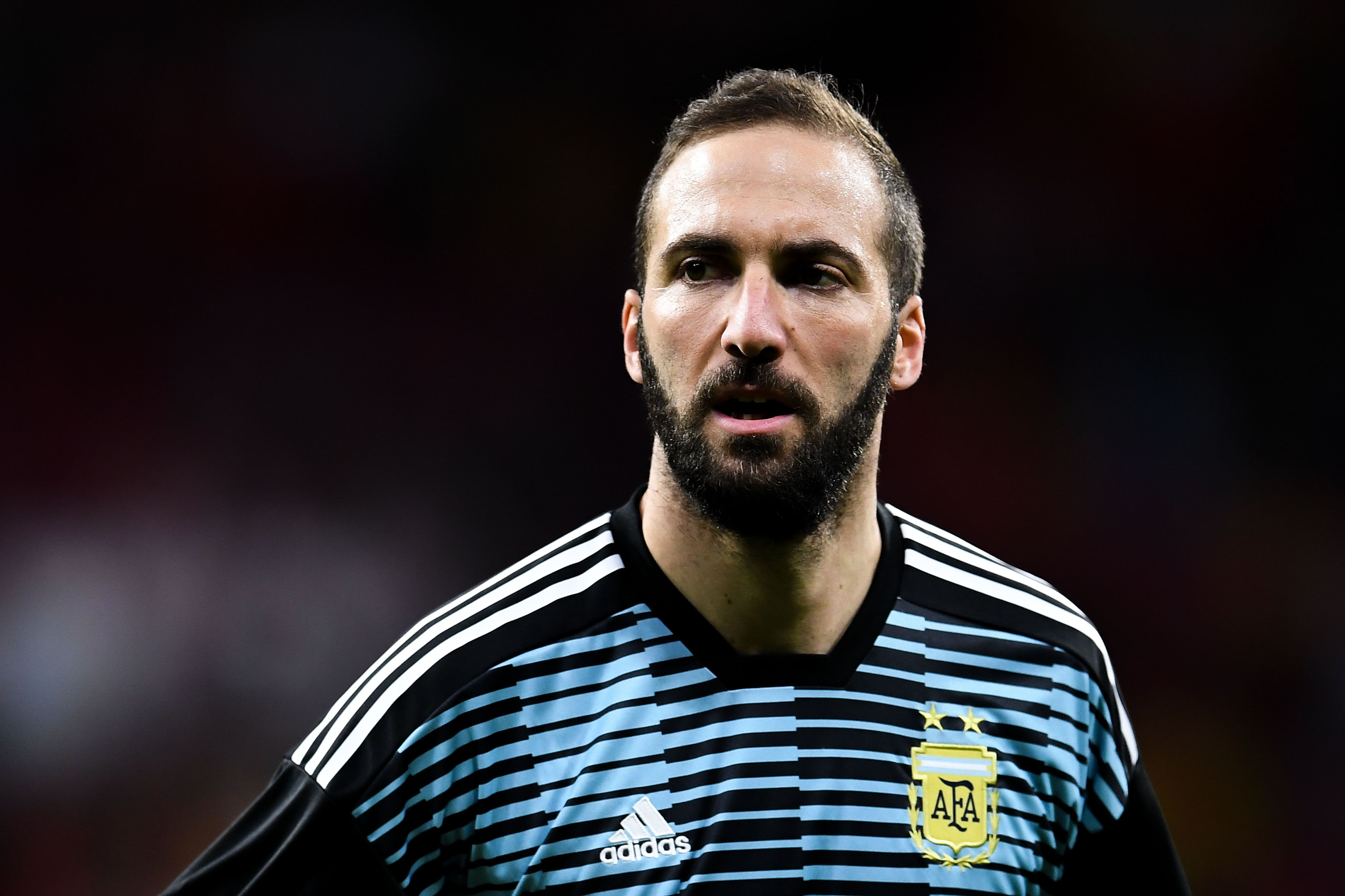 Madrid Spain March  Gonzalo Higuain Of Argentina Looks On During An International