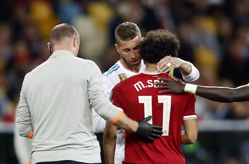 eb3eb9a9bf9 (L-R) Sergio Ramos of Real Madrid, Mohamed Salah of Liverpool FC during the